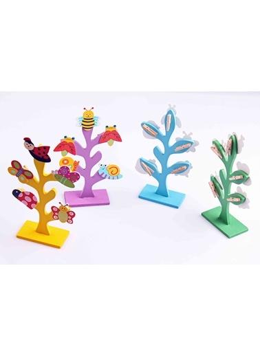 4'lü Ahşap Hayat Ağacı Mandallı Notluk Seti-Learning Toys